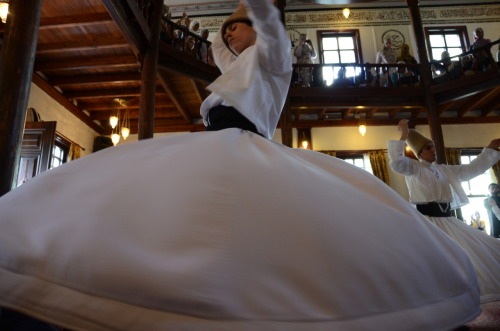 whirling dervish - Bursa, Turkey