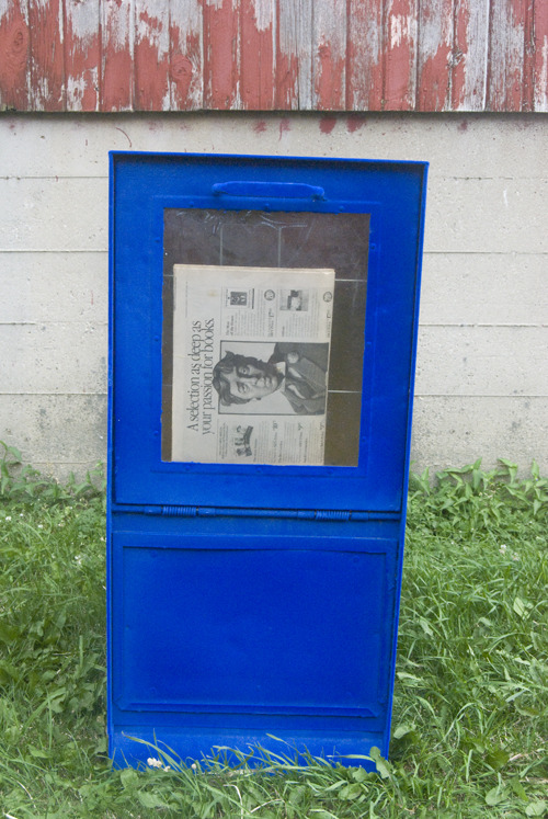 New work! Flocked newspaper boxes by ODL for the Chicago Reader and the MCA.