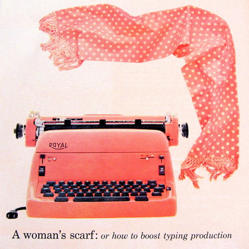 Vintage Pink Royal Typewriter Ad (by Picnic by Ellie)