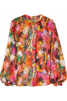 Preen sunset silk blouse