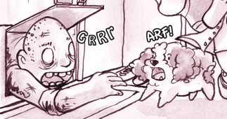 Web Comic UPDATE - You, Me, and Zombie Pg 12 now online! Run Otis!!