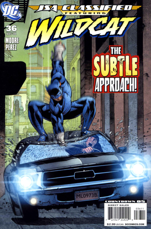 JSA: Classified (Featuring Wildcat) #36, May 2008, cover by Sean Chen, Sandu Florea and David Baron