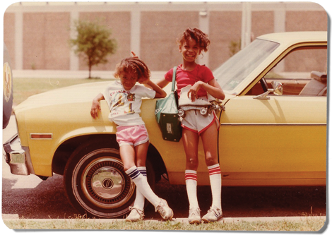 throughkaleidscopeeyes:  Erykah Badu (right) at nine years, with her sister Nayrok, six, in Dallas in 1980. Photo from Texas Monthly. this is by far the cutest childhood photo