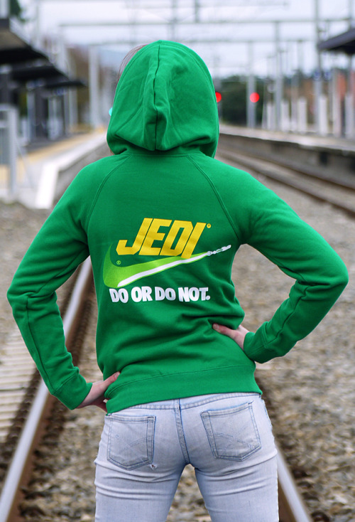 Jedi Josie photographed by John Bocock. These hoodies are now available at HtCRU tees for $75 NZD (approx. is / $58 AUD / $62 USD / £39 GBP / €44 EUR / excl. P&P @ 14/07/11).