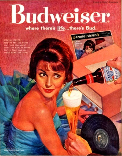 Where there's life…there's Bud. #Vintage.