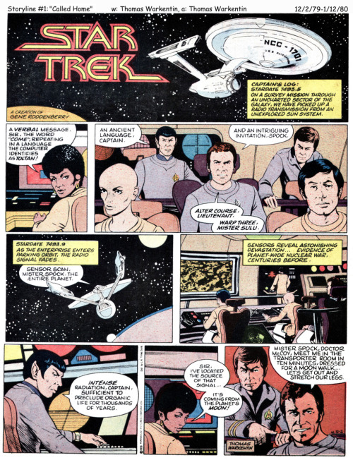 The first installment of the short-lived Star Trek newspaper strip, 1979.  (I received the entire run courtesy of Rich Handley a few years ago. It's not brilliant, but it's  competent enough and certainly more enjoyable than Marvel's comics that started at about the same time.)