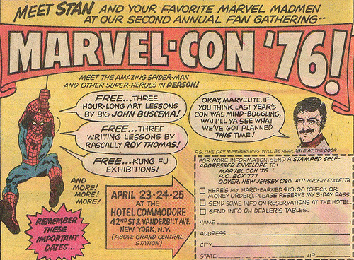 "Marvel Con 76 Ad (by Drive-In Mike)  You had me at ""free Kung Fu exhibitions."""