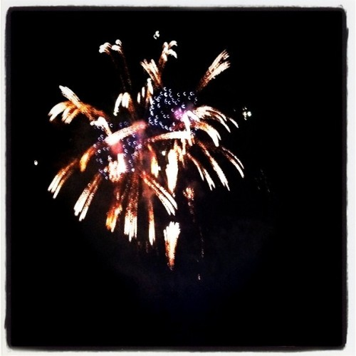 #Fireworks at the Rose Bowl (Taken with Instagram at Americafest 2011)