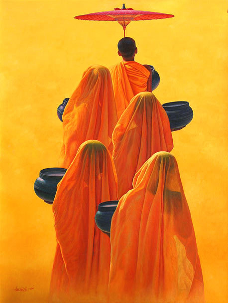 oceanicwolf:   Painting by Aung Kyaw Htet.
