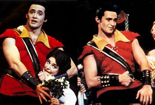 Hugh Jackman was Gaston in the Beauty and the Beast Australian musical asdfhkl