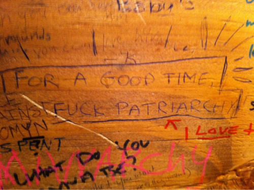 Worst lay of my life. Best graffiti ever at Cafe Deux Soleils.