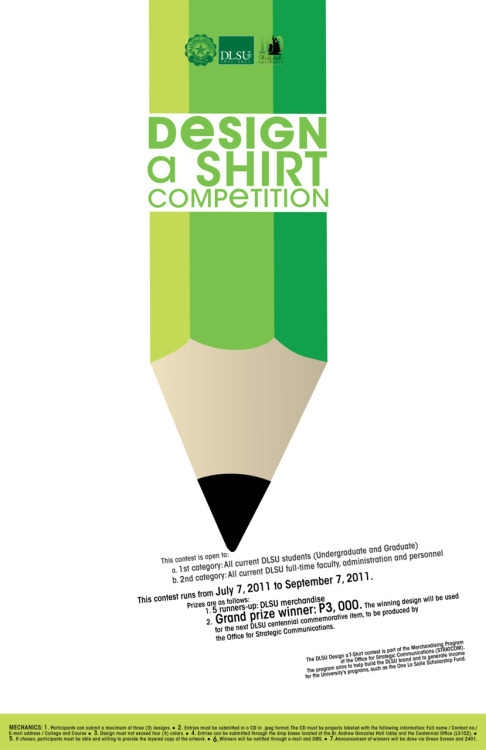 dlsumanila:  Join DLSU's 'Design a Shirt' contest!