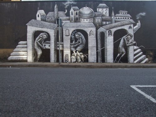 marcake:  New piece from Phlegm