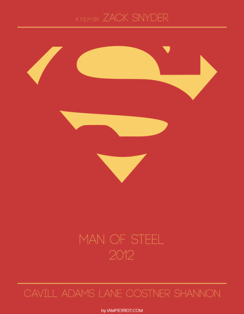 geekmythology:  Minimalist poster for manofsteel - ForeverGeek