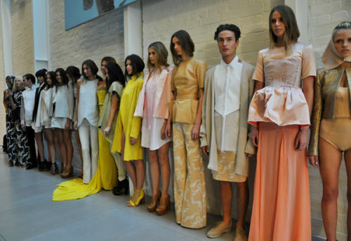 whatshehasfound:  Ellery @ RAFW 2011. Those colours. Love.
