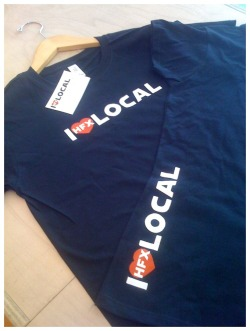 I Love Local T-shirts now for sale in store!!