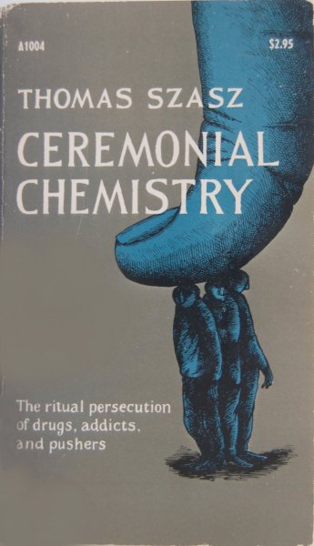 Edward Gorey's cover for Ceremonial Chemistry by Thomas S. Szasz (Anchor, 1975).