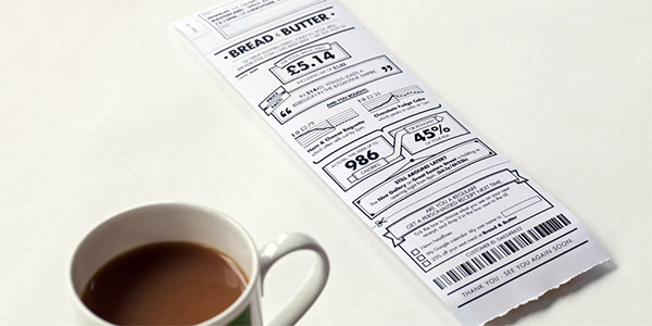 Augmenting Paper Retail Receipts with Simple Infographics - information aesthetics
