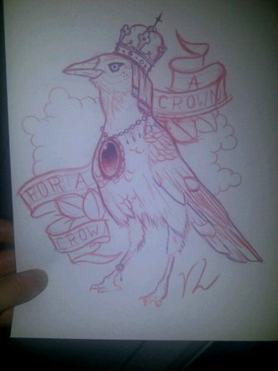 viola-lion-arts:A Crown For A CrowSketch