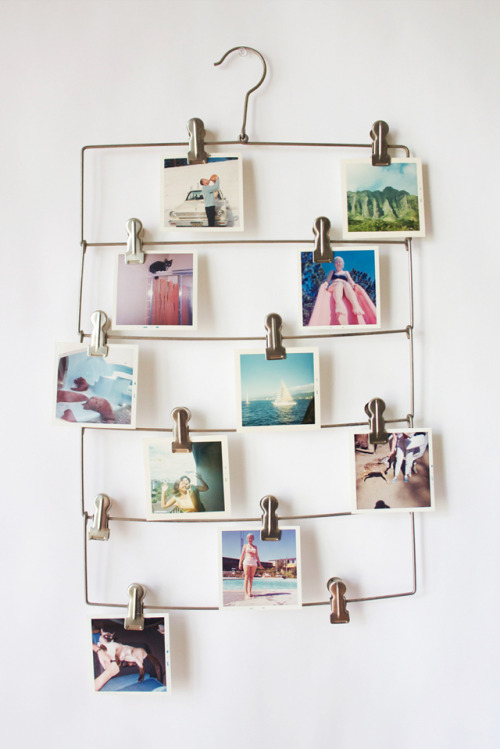 burdastyle:  An easy DIY project: The Makeshift Photo Hanger by Mammal and Lamb.