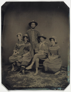[Portrait of a group dressed in bathing costumes], c. 1870 Unknown (American) Cased Object, tintype, 13.9 x 10.9 cm  Anonymous Donation, 2003