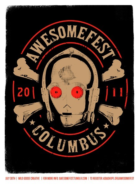 Awesomefest 2011 poster by Brandon Rike. Due to popular demand, this design is now available for purchase.
