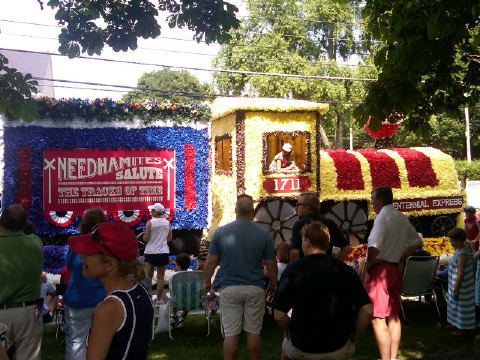 Image description: A Fourth of July parade in Needham, Massachusetts celebrated 300 years of history. We asked you to share your best photos from your Fourth of July celebrations. Thanks to Taylor Kane who shared this image with us on Twitter.