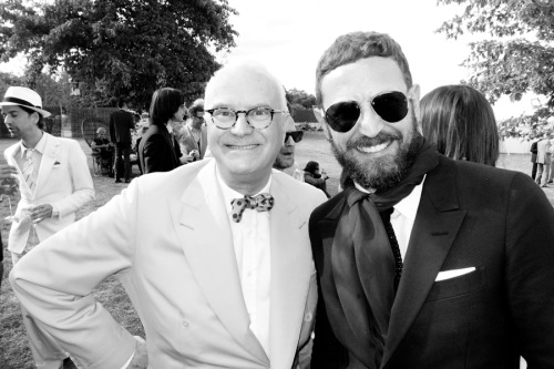 Manolo Blahnik and Stefano Pilati at the wedding.