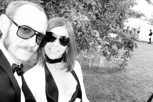 Me and Carine Roitfeld at Kate and Jamie's wedding.