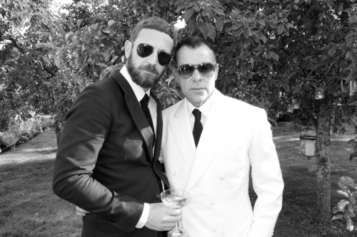 Stefano Pilati and Gorgeous George Cortina.