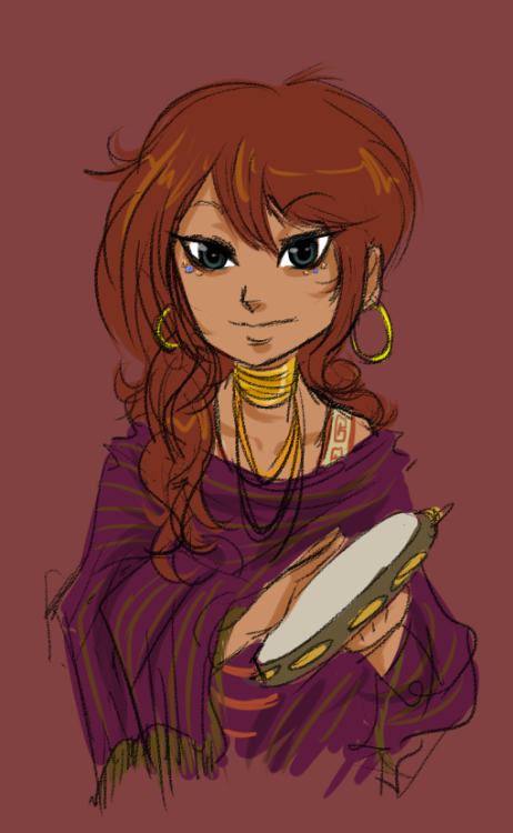 failuretoland:  Gypsy Aradia with color this might still be only a concept sketch tho.