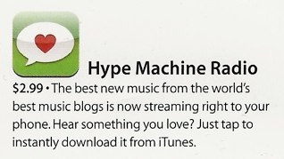 The Hype Radio app is featured in an iPhone 4 ad on the back of the July 11th People magazine issue. (Click for full ad) Thanks, Apple!