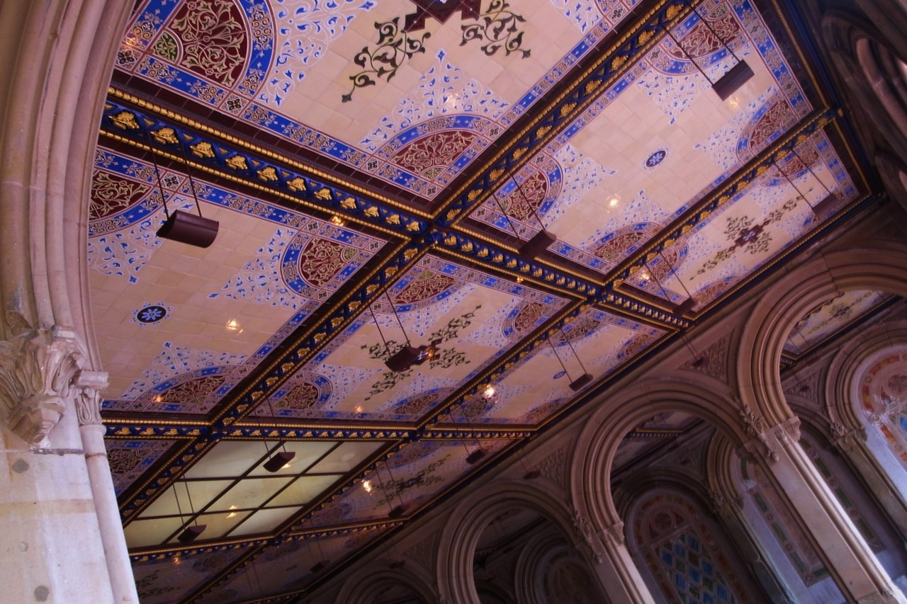 Ceiling details under Bethesda Terrace in Central Park, New York  Photo Thomas Filippini
