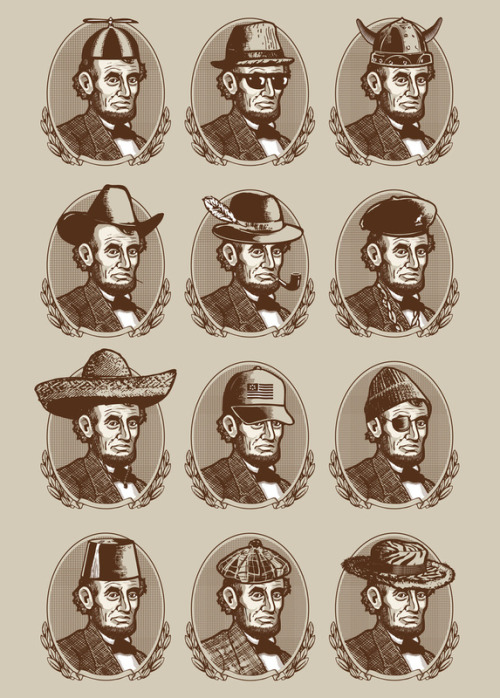 archiemcphee:  Abe Tries on Hats by Ian Byers via fer1972