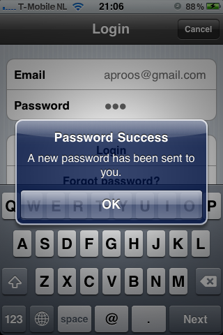 "Wunderlist - When tapping the button ""Forgot Password?"", it'll automatically use the email previously used while trying to sign in. /via Jacob Klapwijk"