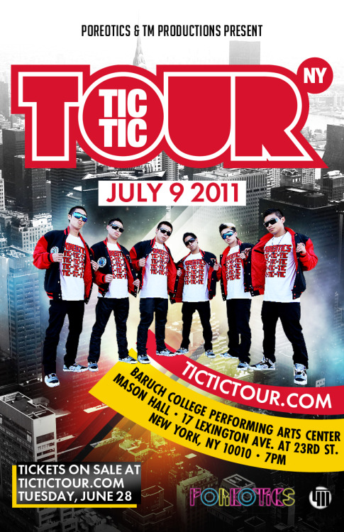 fuckyeadance:  Poreotics Tic Tic Tour:  New York is this Saturday July 9, 2011! Go to www.tictictour.com to get your tickets to this special event. Check out some of our lineup: Static NoyseBones HillBoyBoi ProjectGen-X M.O.B.NERDZ & Rapz Dance Group CollaboFully FocusedIllmatic ForceFl!pd Owt! ShinobiBeat ClubWanted AshiqzThe ProfessionalsThe MooksInterested in joining the SOLO/ALL-STYLES BATTLE DIVISION??? Email registration@tmdance.org and we'll get you signed up right away!   too bad this just got canceled. haha.