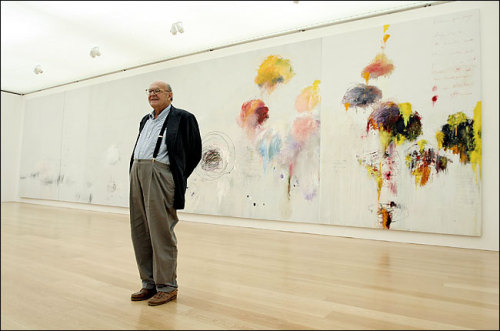 Cy Twombly is dead at 83. (via The New York Times > Arts > Image > A Celebratory Splash)