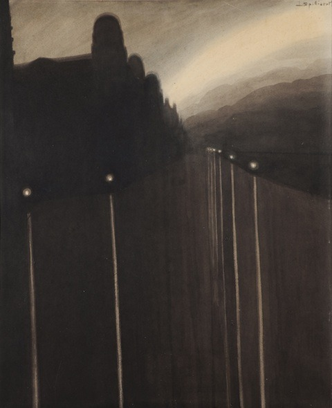 mythologyofblue:   Léon Spilliaert, La digue de mer, Ostende (The Sea Wall, Ostend), 1908    (sugarmeows)