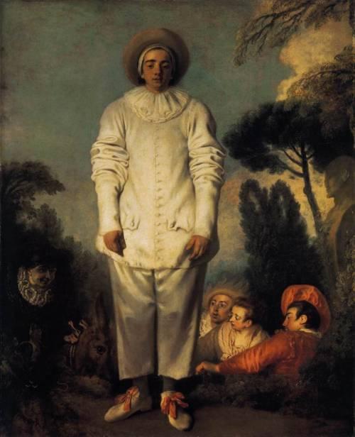 Jean-Antoine Watteau, Gilles, 1718-20  (elegida por María M. Bautista)