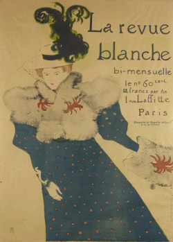 La Revue Blanche, 1895 Henri de Toulouse-Lautrec (French) Print, brush, spatter and crayon lithograph, printed on 2 joined sheets, 129.5 x 93.5 cm Gift of the Donald R. Muller/Ross R. Scott Collection, 2010