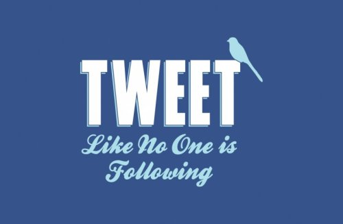 laughingsquid:  Tweet Like No One Is Following