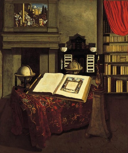 Jan van der Heyden Library Interior with Still Life 1711-12