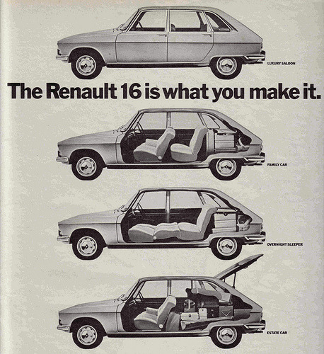 chromjuwelen:  RENAULT 16 (by old school paul)  Seize who? Who needs an Austin Maxi?