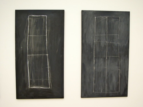 "Cy Twombly, Problem II & III (1966)Museum of Modern Art, Frankfurt One of my favorite artists, the idiosyncratic and always interesting Cy Twombly has passed away.  His wild and scribble-like drawings and paintings, almost always executed on a grand scale, still somehow always manage to maintain something personable and intimate about them, something that draws the viewer into his playfully warm world.  (The ability to create a warm and inviting work while just using scribbly, free, stridently non-representational—perhaps even anti-representational lines is itself quite a feat, rarely achieved by his abstract expressionist contemporaries. This work, which I photographed just the other day at the Museum of Modern Art in Frankfurt, reminds me of the kind of simple image a young, learning child might draw on the great blackboards at school as he is learning about the wondrous shapes that make up the world.  The title, Problem, suggests exactly this sort of innocent query as some child (or childlike artist) attempts to solve a problem of shape, form, and line. The New York Times ran this story about the death of Cy Twombly.   Cy Twombly, whose spare childlike scribbles and poetic engagement with antiquity left him stubbornly out of step  with the movements of postwar American art even as he became one of the  era's most important painters, died in Rome Tuesday. He was 83. The cause was not immediately known, although Mr. Twombly had  suffered from cancer. His death was announced by the Gagosian Gallery,  which represents his work. Michael Stravato for The New York TimesCy Twombly in 2005. In a career that slyly subverted Abstract Expressionism, toyed  briefly with Minimalism, seemed barely to acknowledge Pop Art and  anticipated some of the concerns of Conceptualism, Mr. Twombly was a  divisive artist almost from the start. The curator Kirk Varnedoe, on the  occasion of a 1994 retrospective at the Museum of Modern Art, wrote  that his work was ""influential among artists, discomfiting to many  critics and truculently difficult not just for a broad public, but for  sophisticated initiates of postwar art as well."" The critic Robert  Hughes called him ""the Third Man, a shadowy figure, beside that vivid  duumvirate of his friends Jasper Johns and Robert Rauschenberg."" Mr. Twombly's decision to settle permanently in southern Italy in  1957 as the art world shifted decisively in the other direction, from  Europe to New York, was only the most symbolic of his idiosyncrasies. He  avoided publicity throughout his life and mostly ignored his critics,  who questioned constantly whether his work deserved a place at the  forefront of 20th-century abstraction, though he lived long enough to  see it arrive there. It didn't help that his paintings, because of their  surface complexity and whirlwinds of tiny detail – scratches, erasures,  drips, penciled fragments of Italian and classical verse amid scrawled  phalluses and buttocks – lost much of their power in reproduction. But Mr. Twombly, a tall, rangy Virginian who once practiced drawing  in the dark to make his lines less purposeful, steadfastly followed his  own program and looked to his own muses: often literary ones like  Catullus, Rumi, Pound and Rilke. He seemed to welcome the privacy that  came with unpopularity. ""I had my freedom and that was nice,"" he said in a rare interview,  with Nicholas Serota, the director of the Tate, before a 2008 survey of  his career at the Tate Modern. The critical low point probably came after a 1964 exhibition at the  Leo Castelli Gallery in New York that was widely panned. The artist and  writer Donald Judd, who was hostile toward painting in general, was  especially damning even so, calling the show a fiasco. ""There are a few  drips and splatters and an occasional pencil line,"" he wrote in a  review. ""There isn't anything to these paintings."" But by the 1980s, with the rise of neo-Expressionism, a generation of  younger artists like Jean-Michel Basquiat found inspiration in Mr.  Twombly's skittery bathroom-graffiti scrawl. Coupled with rising  interest in European artists whose work shared unexpected ground with  Mr. Twombly's, like that of Joseph Beuys, the new-found attention  brought him a kind of critical favor he had never enjoyed. And by the  next decade he was highly sought after not only by European museums and  collectors, who had discovered his work early on, but also by those back  in his homeland who had not known what to make of him two decades  before. In 1989 the Philadelphia Museum of Art opened permanent rooms  dedicated to his monumental 10-painting cycle, ""Fifty Days at Iliam,""  based on Alexander Pope's translation of the ""Iliad."" (Mr. Twombly said  that he had purposely misspelled ""Ilium,"" a Latin name for Troy, with an  ""a,"" to refer to Achilles.) That same year, Mr. Twombly's work passed  the million-dollar mark at auction. In 1995 the Menil Collection in  Houston opened a new gallery dedicated to his work, designed by Renzo  Piano after a plan by Mr. Twombly himself. Despite this growing  acceptance, Mr. Varnedoe still felt it necessary to include an essay in  the Modern's newsletter at the time of the retrospective, titled ""Your  Kid Could Not Do This, and Other Reflections on Cy Twombly."" In the only written statement that Mr. Twombly ever made about his  work, a short essay in an Italian art journal in 1957, he tried to make  clear that his intentions were not subversive but elementally human.  Each line he made, he said, was ""the actual experience"" of making the  line, adding: ""It does not illustrate. It is the sensation of its own  realization."" Years later he described this more plainly. ""It's more  like I'm having an experience than making a picture."" The process stood  in stark contrast to the detached, effete image that often clung to Mr.  Twombly. After completing a work, in a kind of ecstatic state, it was as  if the painting existed and he barely did anymore: ""I usually have to  go to bed for a couple of days."""