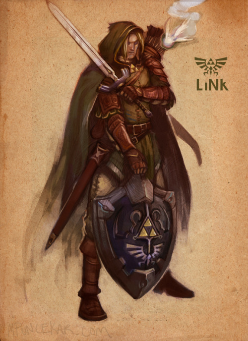 justintr:  Link - by Mike Puncekar | Twitter Stunning redesign of Link from The Legend of Zelda.  You can also check out Mike's other Nintendo redesigns on his blog.