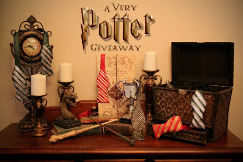 by-enpointe:  Contest Time! In honor of the release of Harry Potter and the Deathly Hallows Part II, we have a Gryffindor Giveaway with a Slytherin Surprise!  We have made five Harry Potter inspired self tie bow ties for the witches, wizards, and muggles of Tumblr: two hail from the House of Gryffindor, two from Slytherin, and one fit for the Chosen One.   Rules! 1.  You must be following en pointe: http://www.tumblr.com/follow/by-enpointe 2.  To enter, reblog this post. (You can reblog as many times as you want.) 3.  We will ship to wherever you are. This contest will end on July 18th, and we will randomly pick a winner, who will be contacted via ask box.   Good Luck to all! Mischief Managed.