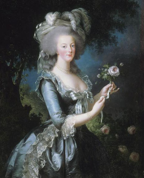 Portrait of The Queen Marie-Antoinette by Elisabeth Louis Vigee-Le Brun (1783)