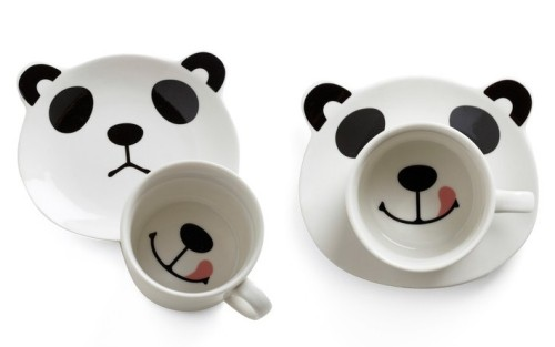 "fuckyeahgiantpanda:  ""Panda Smile on Your Face Mug Set"" by Modcloth. Via Annarsalis."