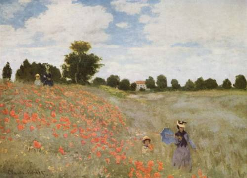 Poppies Blooming, 1873,Musée d'Orsay, Paris.