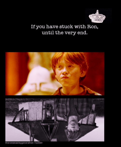 theronweasleygeneration:  And to you, if you have stuck with Ron until the very end.